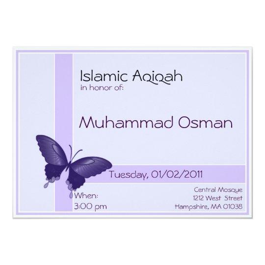 Islamic Aqiqa invitation - baby boy celebration