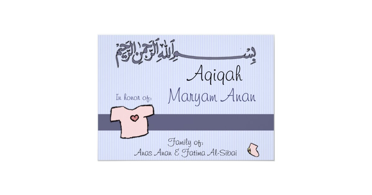 Islamic aqiqa invitation baby celebration zazzle stopboris Image collections
