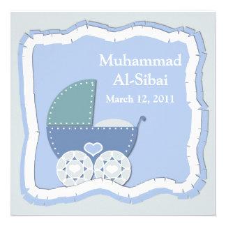 Islamic Aqiqah baby invitation bismillah muslim