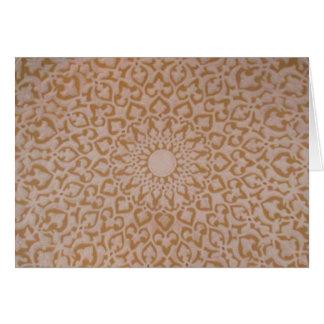 Islamic art and geometric design. greeting card
