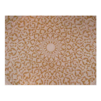 Islamic art and geometric design postcard