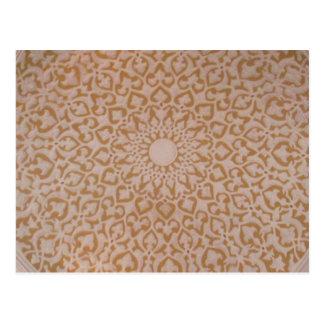 Islamic art and geometric design postcard