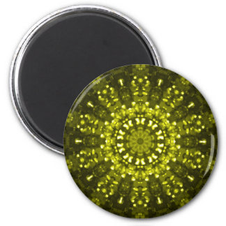 Islamic art green geometric design magnet