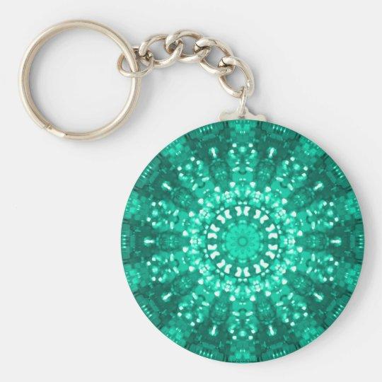 Islamic art jade geometric design keychain