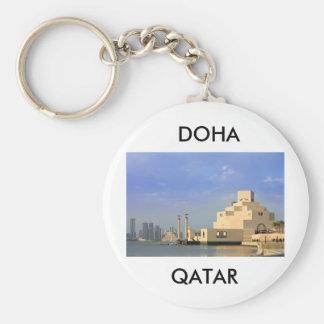 Islamic Art Museum, Doha, Qatar Basic Round Button Key Ring