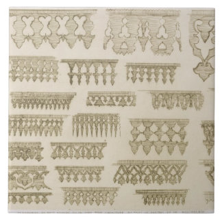 Islamic designs for cornice, balcony and mashrabiy large square tile