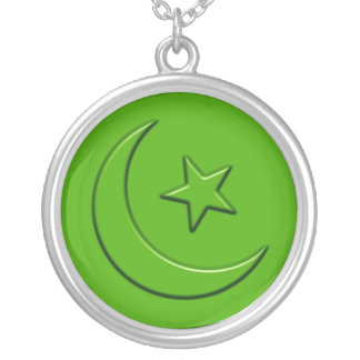 Islamic Embossed Moon & Star Jewelry
