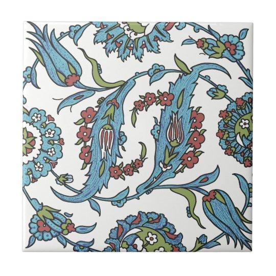 Islamic Floral Ceramic Tile #1