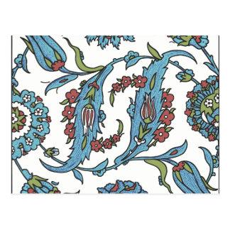 Islamic Floral Ceramic Tile #1 Postcard