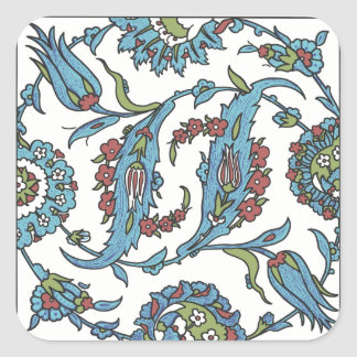 Islamic Floral Ceramic Tile #1 Square Stickers