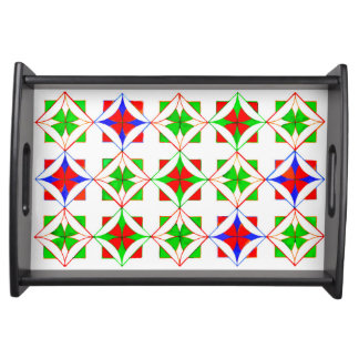 Islamic Geometric Design Serving Tray