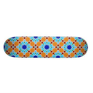 Islamic geometric pattern 20.6 cm skateboard deck