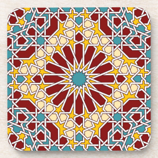 Islamic geometric pattern coaster