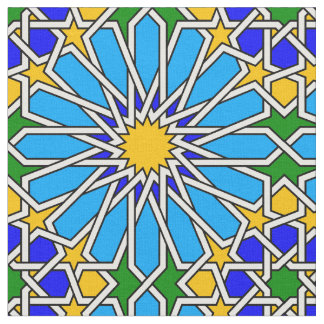 Islamic geometric pattern fabric