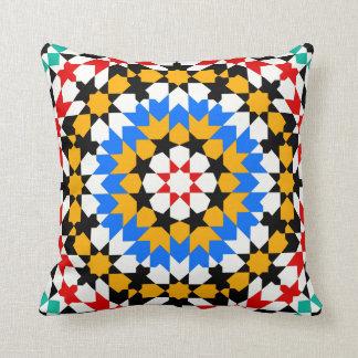 Islamic geometric pattern pillow