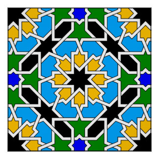 Islamic geometric pattern Poster