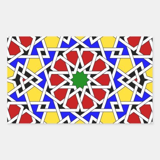 Islamic geometric pattern sticker