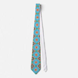 Islamic geometric pattern tie
