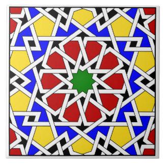 Islamic geometric pattern tile