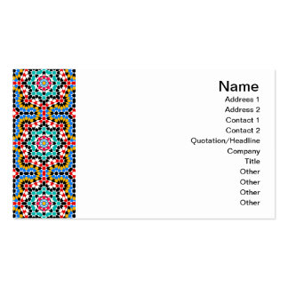 Islamic geometric pattern Tile Business Card