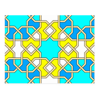 Islamic geometric patterns postcard