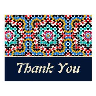 Islamic geometric patterns thank you Postcard