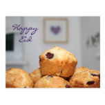 Islamic happy Eid kareem sweets muffins cupcakes Post Cards