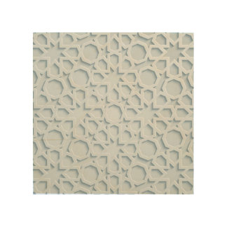 islamic inspired moroccan geometric pattern canvas wood print
