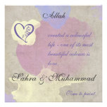 Islamic invitation - Watercolor painting of love