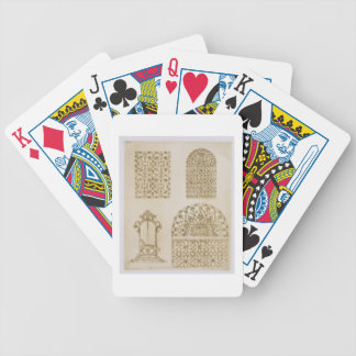 Islamic ironwork grills for windows and wells, fro bicycle playing cards