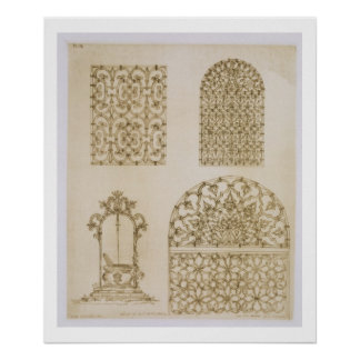 Islamic ironwork grills for windows and wells, fro poster