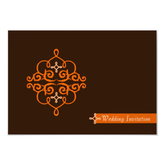 Islamic Islam wedding engagement damask 9 Cm X 13 Cm Invitation Card