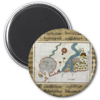 Islamic Map From Antiquity Refrigerator Magnet