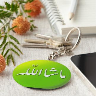 Islamic MashAllah keyring keychain in Green