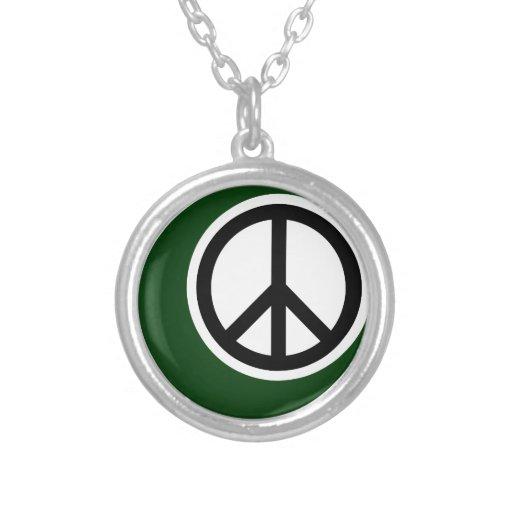 Islamic Muslim Symbol with Peace Sign Pendants