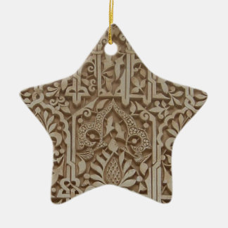 Islamic Patterns from the Alhambra Andalusia Spain Christmas Ornament