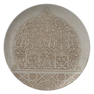Islamic Patterns in the Alhambra, Andalusia, Spain Plates