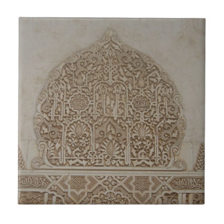 Islamic Patterns in the Alhambra, Andalusia, Spain Small Square Tile