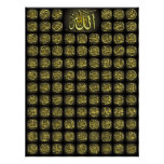 Islamic Products 99 Names Of Allah and Prophet Posters