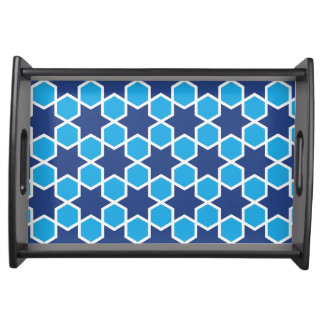 islamic religious geometric decoration pattern abs serving tray