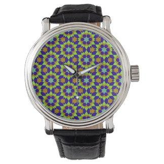 islamic religious geometric decoration pattern abs watch