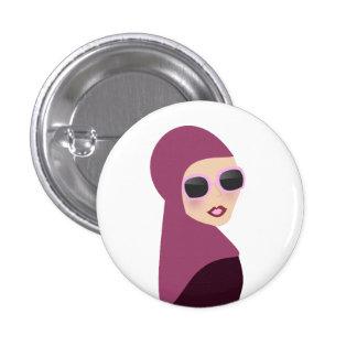 Islamic scarf muslima hijab lady style 3 cm round badge