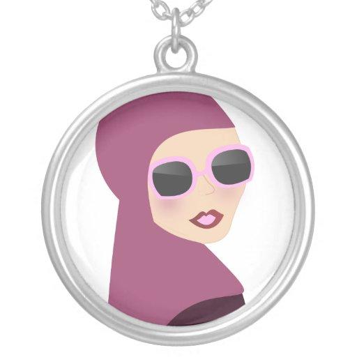 Islamic scarf muslima hijab lady style necklace