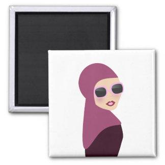 Islamic scarf muslima hijab lady style square magnet