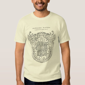 Islamic Shield - As-Salamu `Alaykum T Shirts