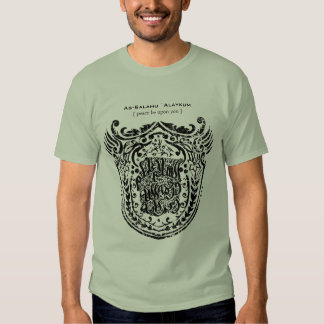 Islamic Shield As-Salamu `Alaykum Tshirt