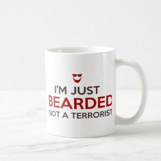 Islamic slogan I'm just bearded not a terrorist Basic White Mug