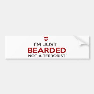 Islamic slogan I'm just bearded not a terrorist Bumper Sticker