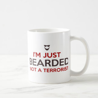 Islamic slogan I'm just bearded not a terrorist Basic White Mug