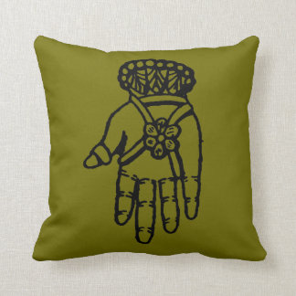 Islamic Symbol: Hamsa Throw Pillow